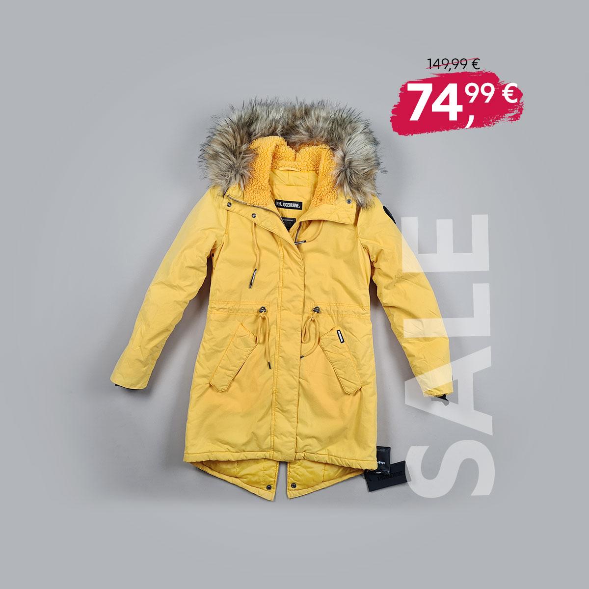 """SALE: Khujo Winterjacke """"Kenita 4"""" in gelb"""