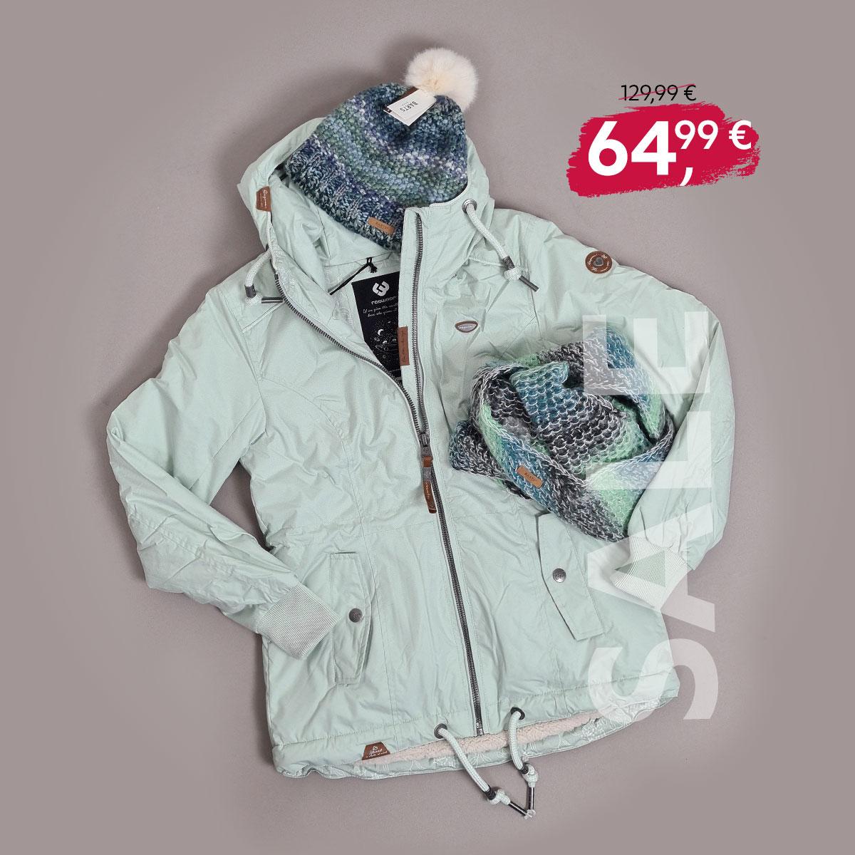 """SALE: Ragwear Winterjacke """"Danka""""in Pale Green"""