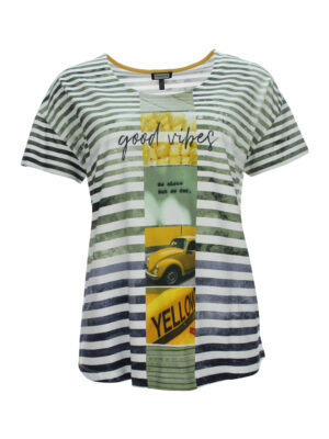 Ringel-T-Shirt mit Motiv