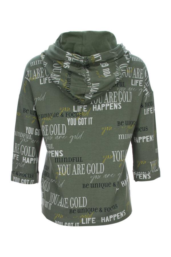 3/4 Arm Sweatshirt mit Kapuze