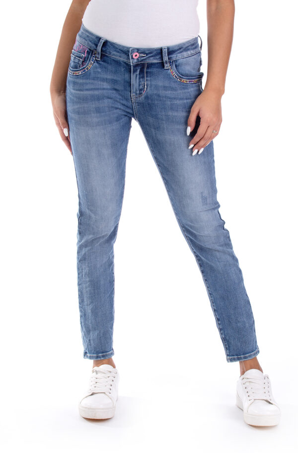 Cherry 10689 Cropped Skinny Fit