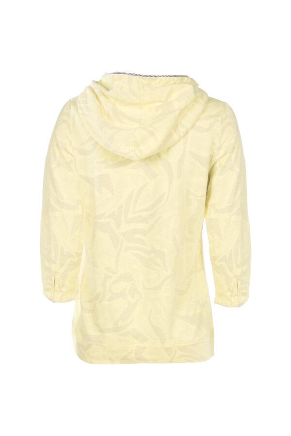 3/4-Arm Shirt mit Kapuze