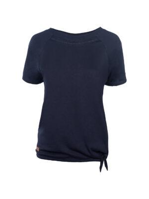 T-Shirt mit Bündchenknoten