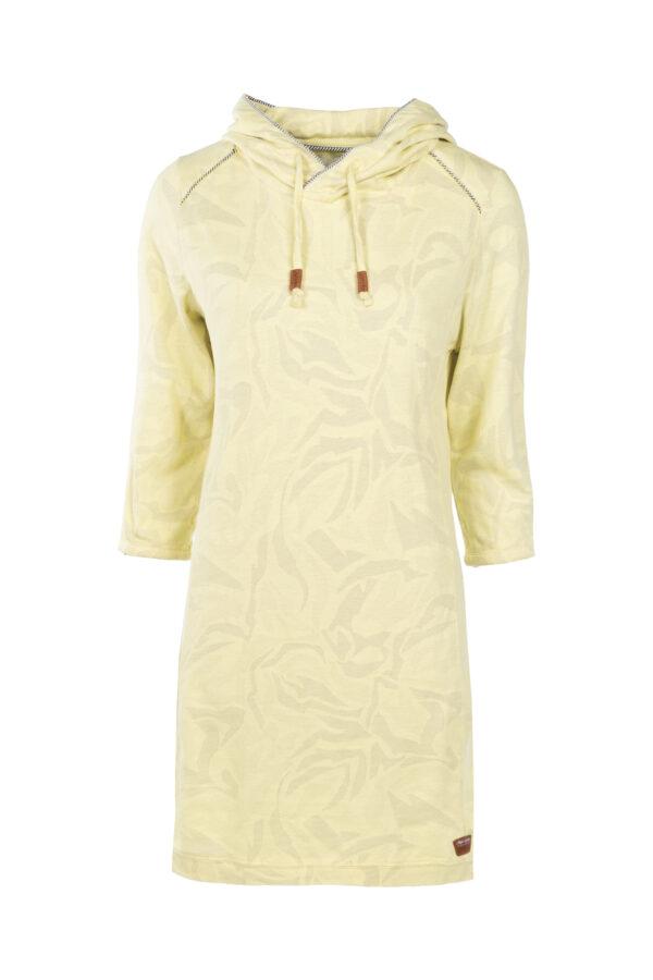 3/4-Arm Kleid mit Kapuze
