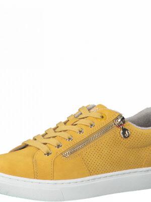 Kunstleder-Sneaker mit Zipper