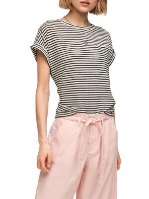 Jersey Leinenmix T-Shirt